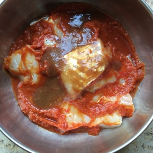 Figure 4: Fish with tomato and tamarind extract marinade