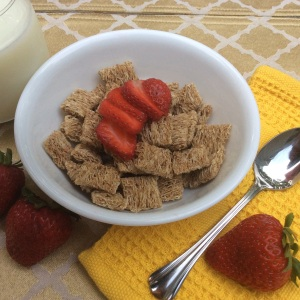 Whole grain shredded wheat with 6 grams of fiber. © Copyright 2015 Sangeeta Pradhan, RD, LDN, CDE