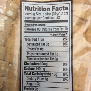 The fiber in this bread is unacceptably low even though it is