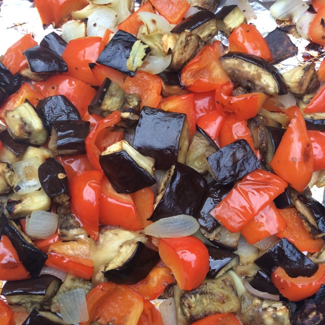 Roasted veggies. © Copyright July 2015 Sangeeta Pradhan, RD, LDN, CDE