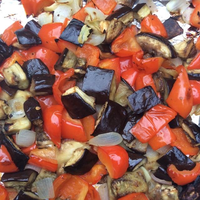 Roasted veggies. © Copyright July 2015 Sangeeta Pradhan, RD, LDN, CDE