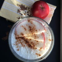 Apple-cinnamon-flax seed kefir. © Copyright, Sangeeta Pradhan, RD, LDN, CDE