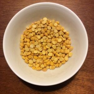 Channa dal or yellow split chickpeas. © Copyright Sangeeta Pradhan, RD, LDN, CDE.