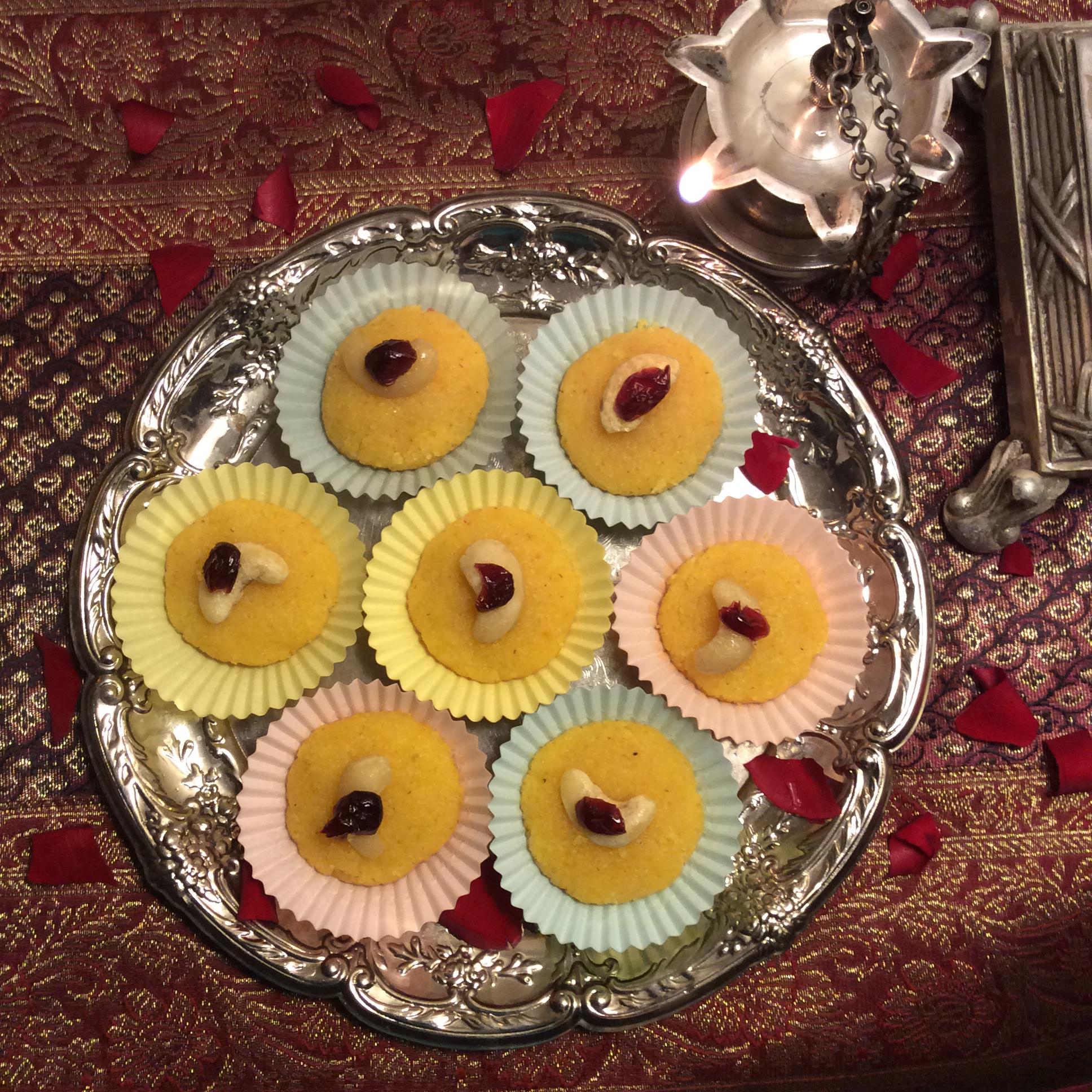 Saffron-mango halwa. © Copyright, November 2015, Sangeeta Pradhan, RD, LDN, CDE.
